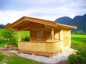 Gartenhaus in Blockbauweise