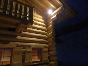 Kanadisches Rundblockhaus - Schihütte Detail