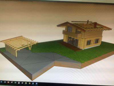 Visualisierung Blockhaus