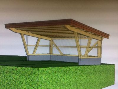 Visualisierung Carport