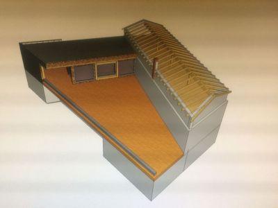 Visualisierung Dachstuhl Wohnhaus