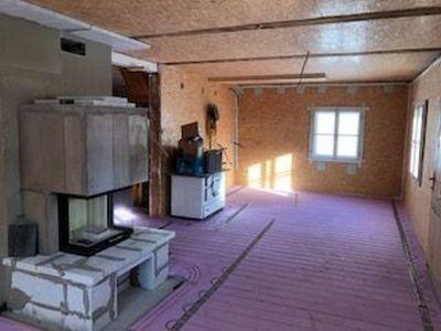 Wohnzimmer Fertig Isoliert Und Installiert