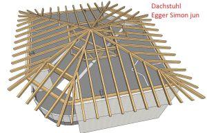 Dachstuhl Wohnaus