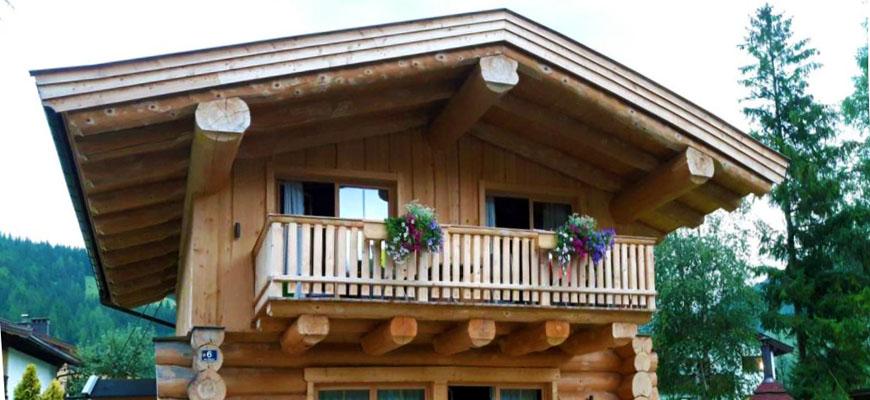 lockhaus in kanadischer Naturstammbauweise in Hochfilzen